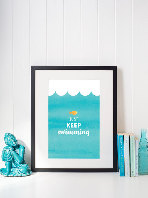 A4 art print - Swimming