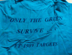 Only the Green Survive Tee from 1989