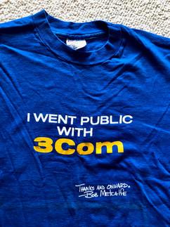 I Went Public with 3Com Tee