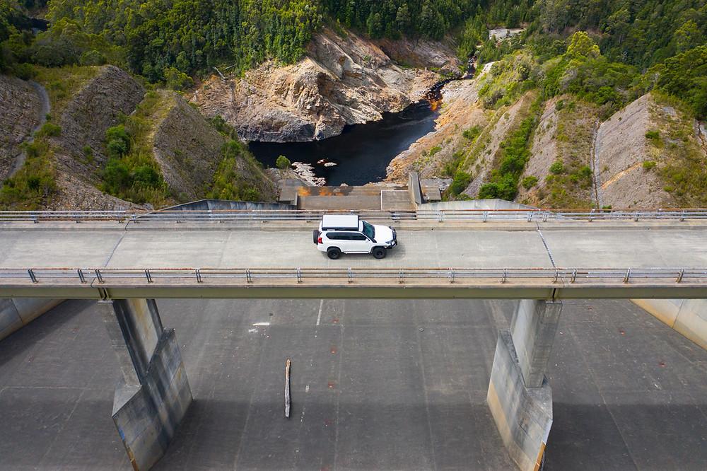 spillway lake dam pieman Climies Track West Coast