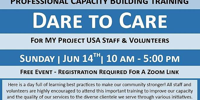 Dare to Care volunteer training