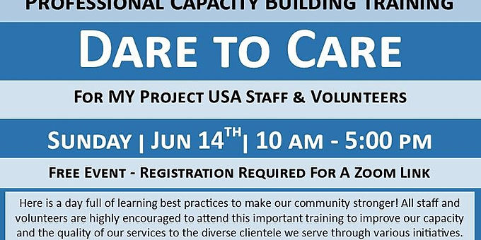 Dare to Care volunteer training