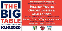 The Big Table - Hilltop Youth: Opportunities and Challenges- 4 pm Session