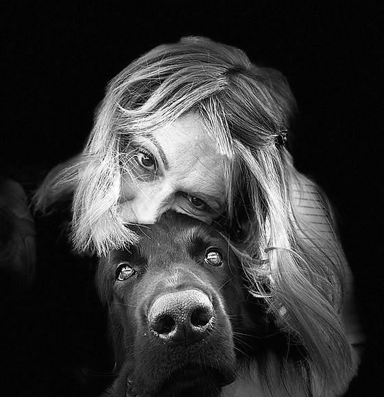 Bild von mir mit Hund