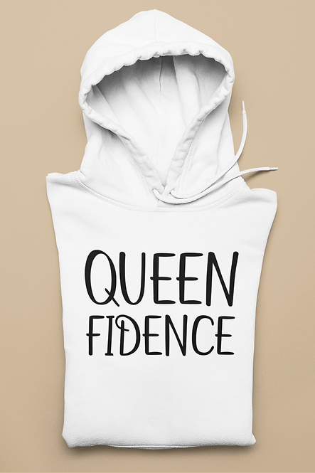 White Queenfidence Hoodie