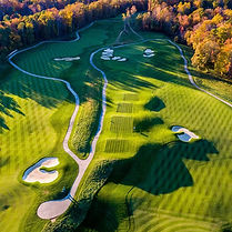 Aerial video of fairway at a Golf Course in Bristol