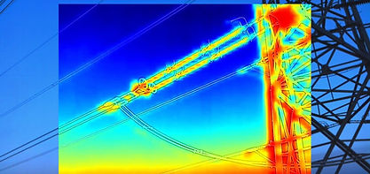 Thermal Image of Power Line Inspection taken in Swindon