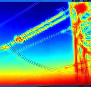 Thermal Imagery taken of electricity pylon Cirencester, Chippenham, Bristol, Swindon
