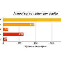 Annual consumption per capita