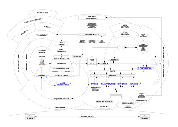 Flow Chart of the current Food System