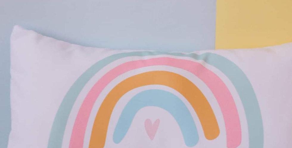 Almohada arcoiris.