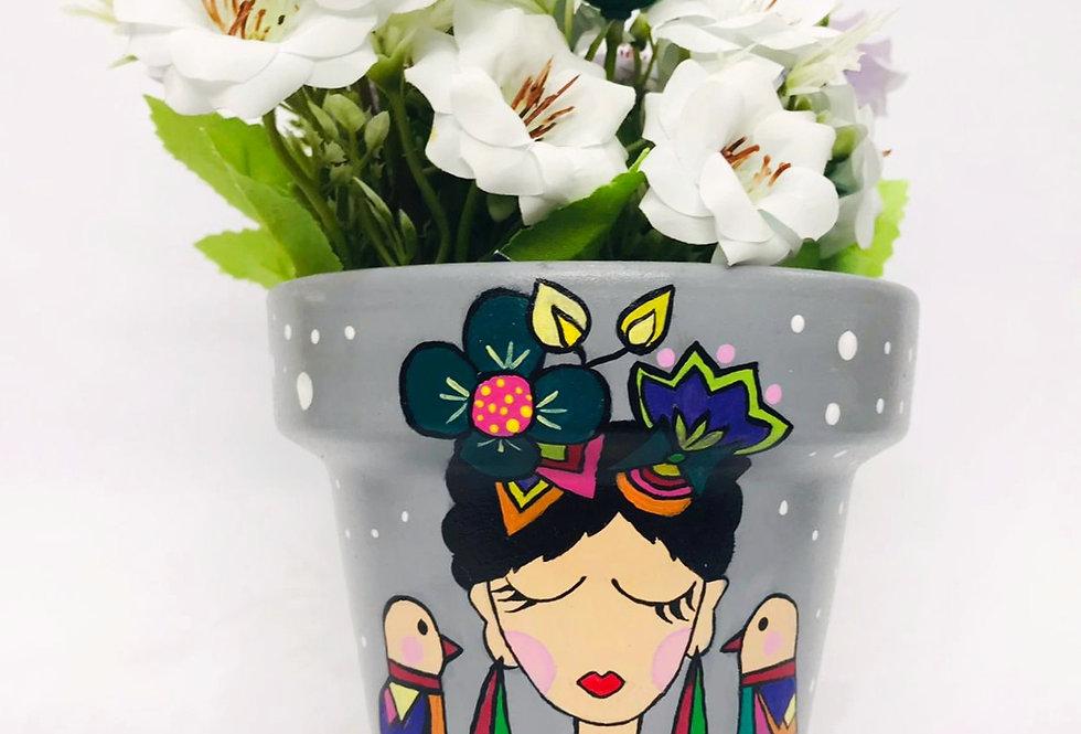 Maceta de cerámica Frida