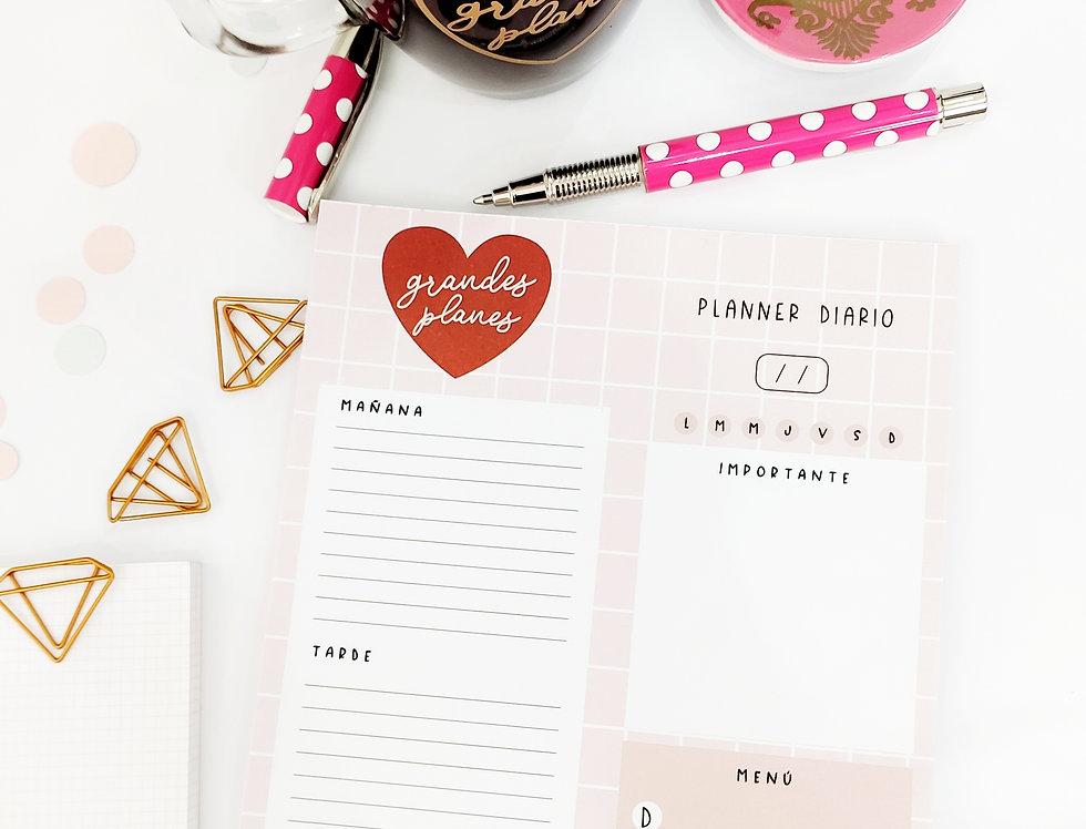 Planificador diario grandes planes