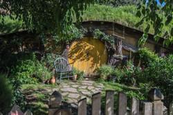 Hobbiton yellow door