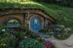 Hobbiton blue door