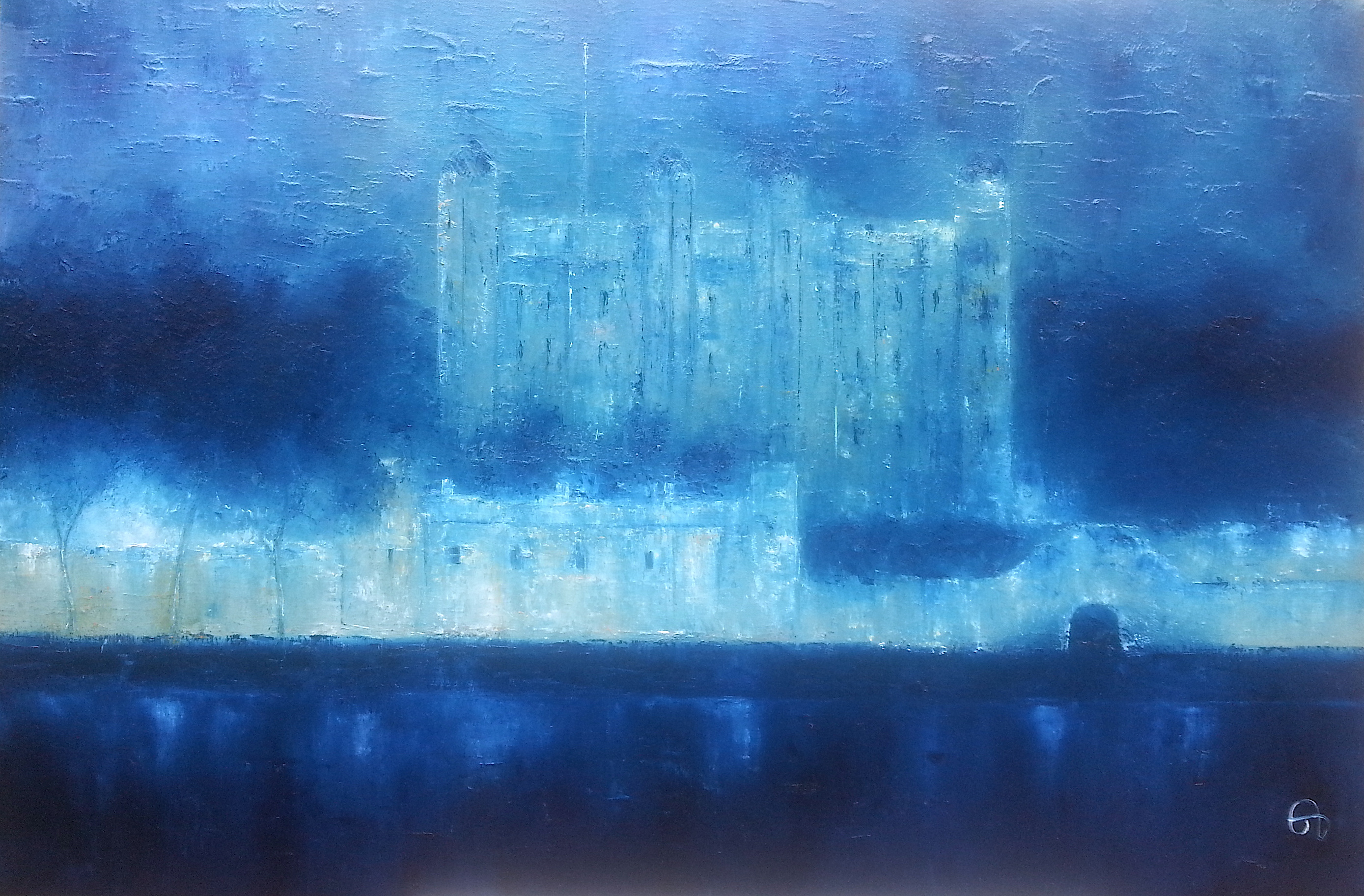 Tower of London in Blue/ SOLD