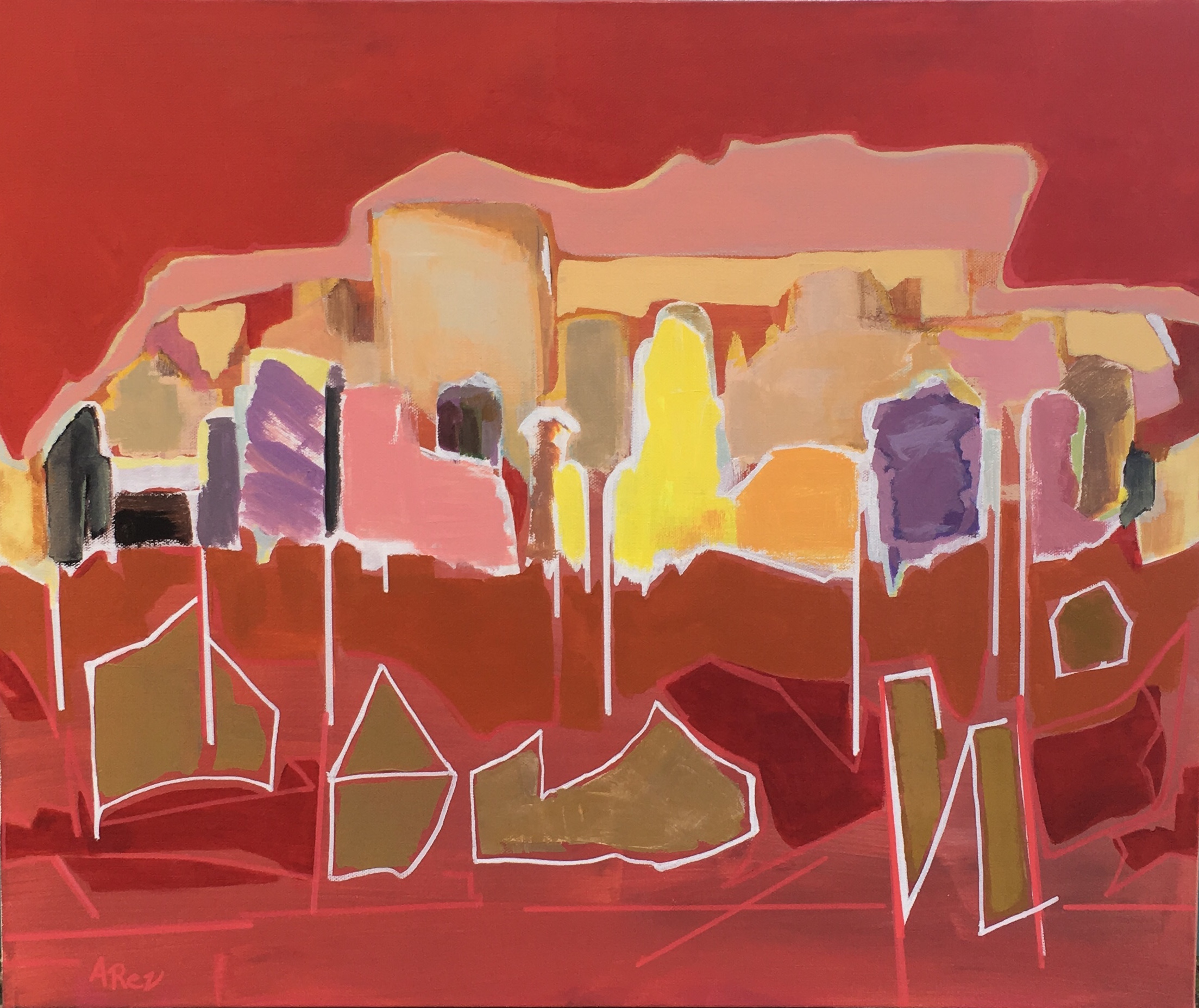 """Array of Red  20"""" x 24"""""""