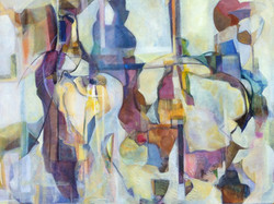 """Glass Silhouettes 24""""x 30"""" Sold"""