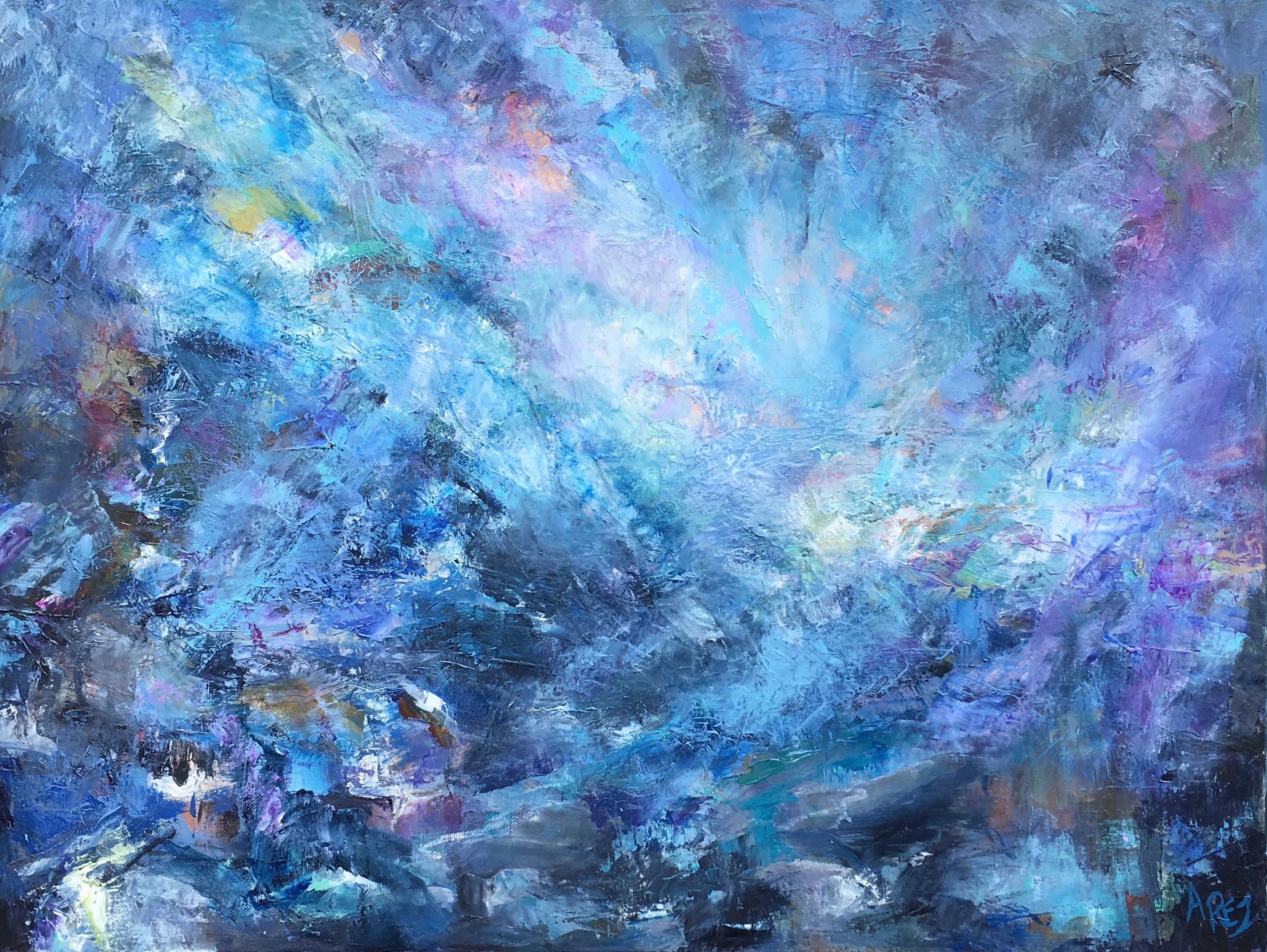 "Luminous Sky 18"" x 24"""
