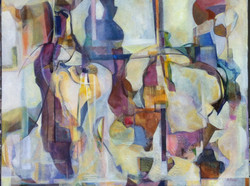 """Glass Silhouettes 30""""x24"""""""