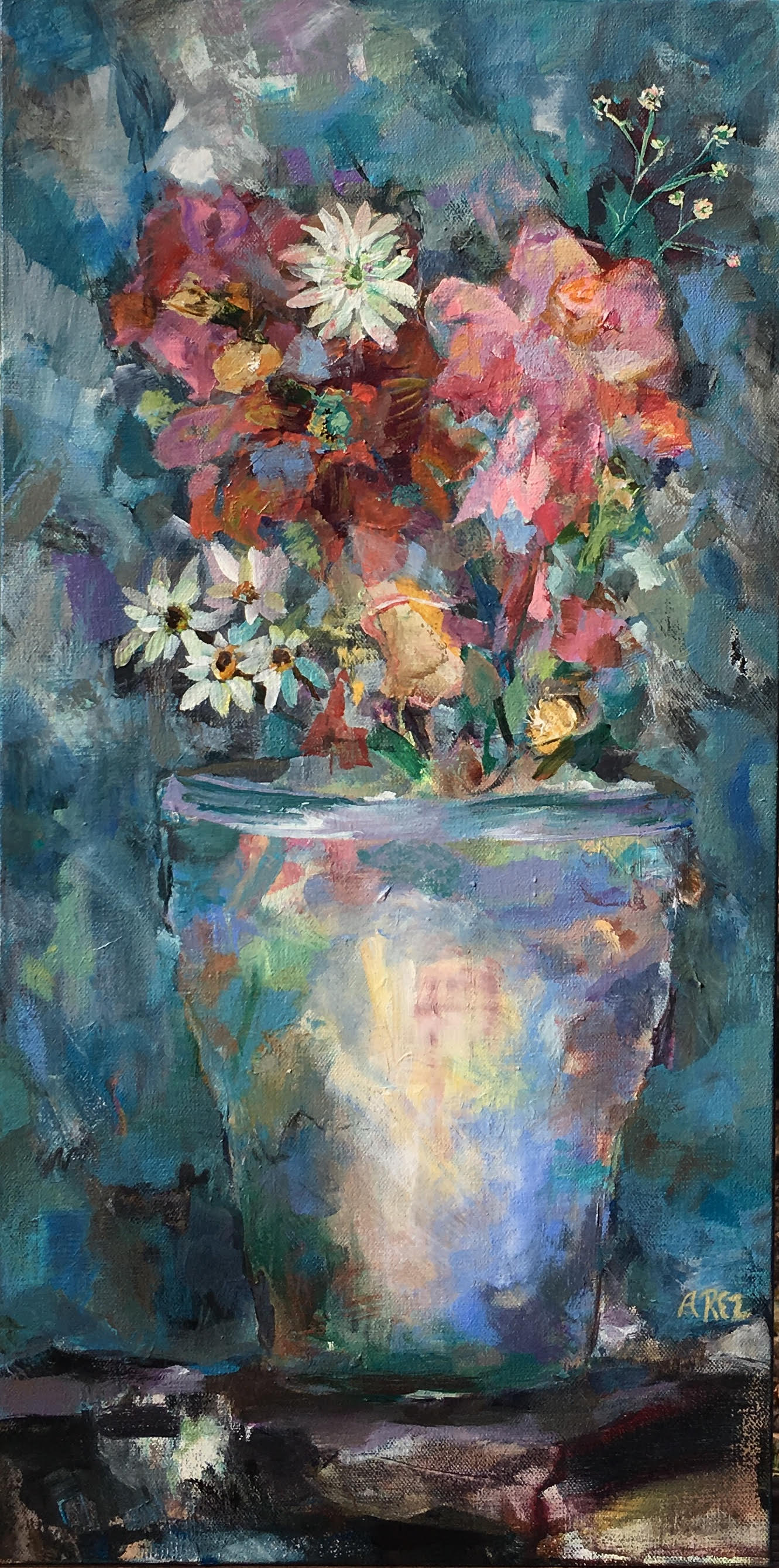 "Potted Glory 24"" x 12"""