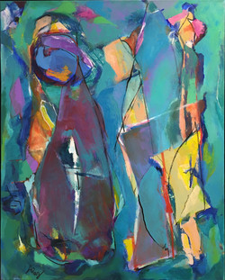 """Stained Glass 30"""" x 24"""""""