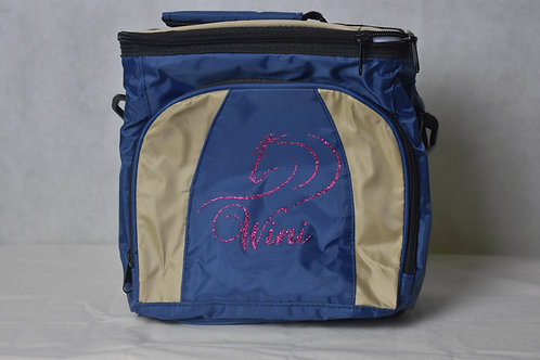 Lunch / Cooler Bag - Tan with Pink logo