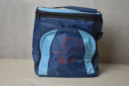 Lunch / Cooler Bag - Light Blue with Red logo