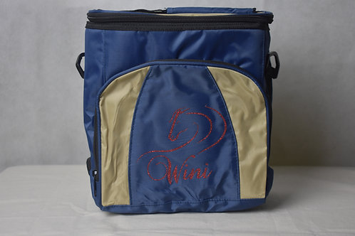 Lunch / Cooler Bag - Tan with Red logo