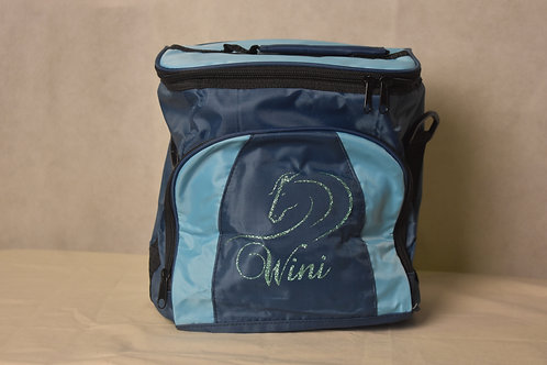 Lunch / Cooler Bag - Light Blue with Aqua logo