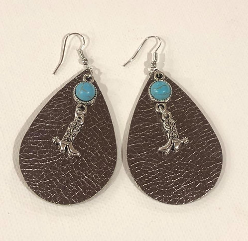 Teardrop Boot Dangle Earring