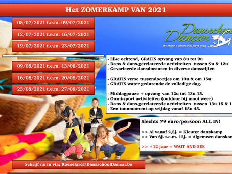 Dé zomerdanskampen 2021 bij Dansschool Dançar