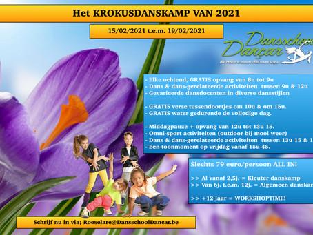 Het Krokusdanskamp 2021 bij Dansschool Dançar