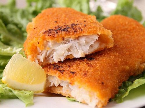 Filete de pescado empanizado a la plancha