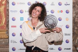 """Prix Scam du Podcast Documentaire : Maëlle Sigonneau et Mounia El Kotni  """"Impatiente"""", pour l'épisode """"Je dois m'inquiéter ?"""" (Nouvelles Écoutes)  Sur la photo : Mounia El Kotni"""