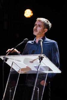 Julien Cernobori (podcasteur indépendant, Président du jury)  Cérémonie de clôture, dimanche 20 octobre 2019