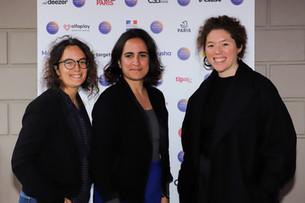 Elodie Font (Arte Radio...), Mélissa Bounoua (Louie Media), Charlotte Pudlowski (Louie Media)