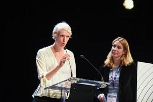 Delphine Agut (scénariste et membre du jury), et Elizabeth Le Hot (DGMIC)