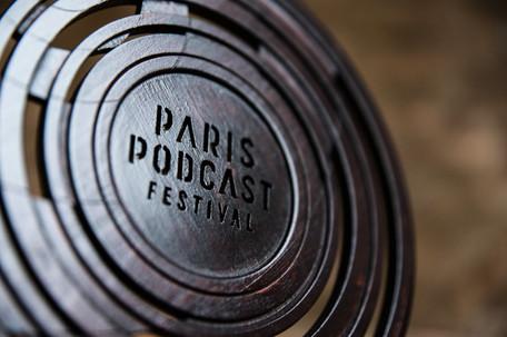 Trophée du Paris Podcast Festival (création Nicolas Roinsol)