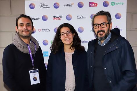L'équipe Deezer : Cyril Bonnet, Yasmine Ben Hamouda, Fréderique Antelme  - Partenaire du festival -