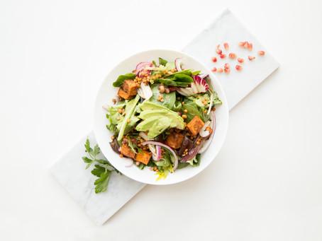 Receita: salada com moranga assada