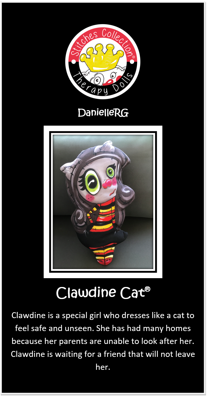 Clawdine Cat Story Card