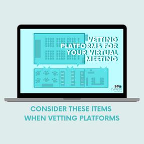 Vetting Platforms for your Virtual Meeti