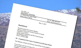 Mauna Kea War Crimes Complaint Filed In Canada