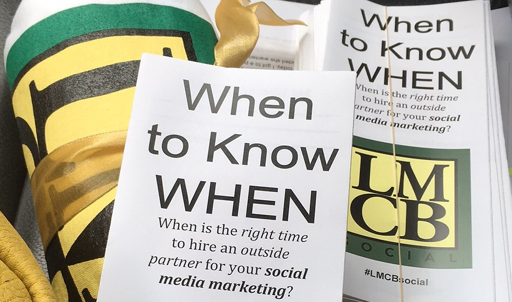 When to Know WHEN - When is the right time to hire outside help for your social media marketing? - Lisa Busby, Memphis, LMCB Social - #LMCBsocial
