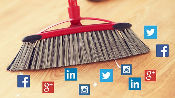 cleaning up social media accounts, facebook, google, instagram, twitter, spring cleaning