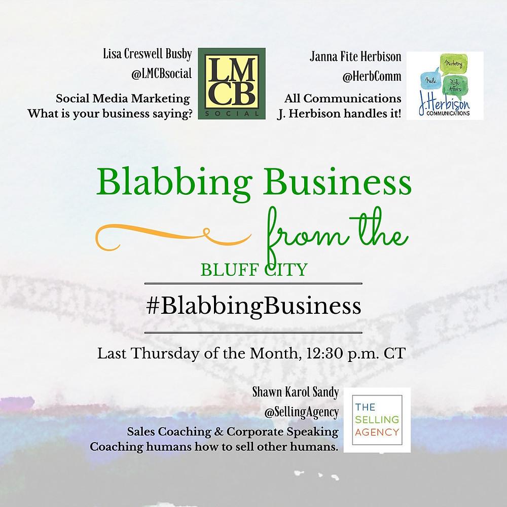 #BlabbingBusiness, Blabbing Business, social media marketing, Memphis, blab