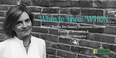 Lisa Busby, Social Media Marketing for Smart Business Owners, Memphis, NAWBO