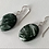 Thumbnail: Oval Seraphinite Earrings Beaded with Sterling Silver