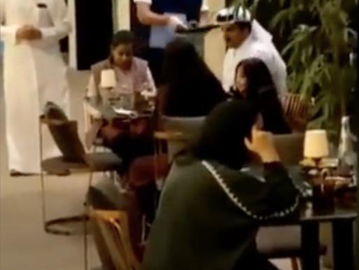 الأمير تميم مع بناته في الدوحة ومن ثم الى الرياض